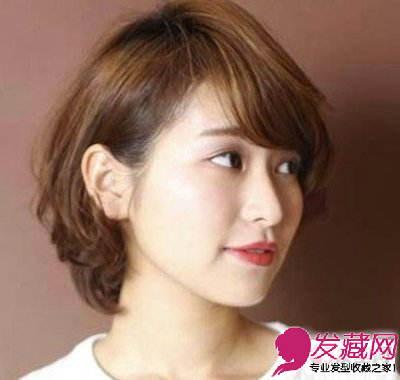 圆脸女生适合的梨花头短卷发 短发蓬松烫卷更具有造型效果(4)图片