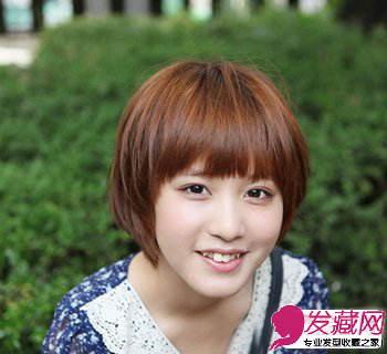 短发发型图片 清新时尚学生发型(2)图片
