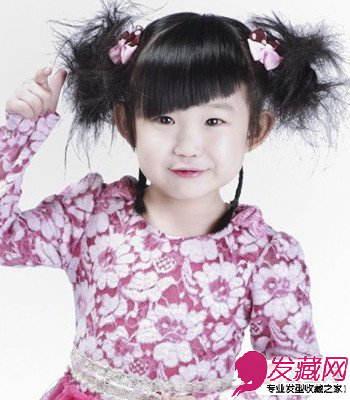 春季儿童发型 柔顺的齐刘海俏皮宝宝亮出来(2)图片
