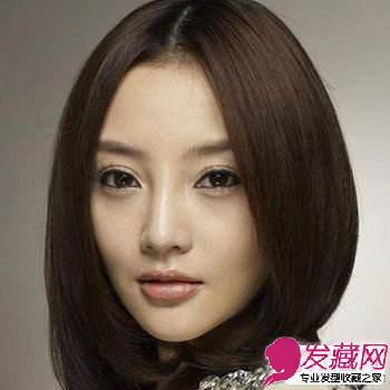 明星示范圆脸适合发型 →圆脸适合的发型图片 气质的中分公主半扎发