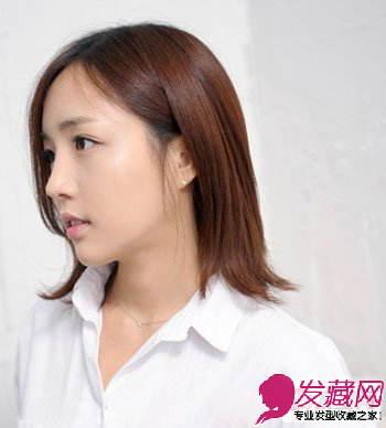 菱形脸女生适合什么样的发 偏分最修颜(5)图片