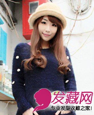 气质轻熟女长发发型 长发发型的俏皮可爱感(4)