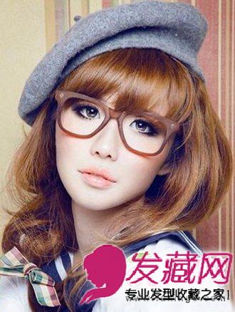 2013冬季流行发型 学院女生清新甜美发型 高清图片