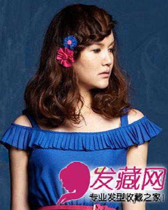 学院女生清新甜美发型(5)  导读:刘海编发烫发发型 将女生 中长发图片