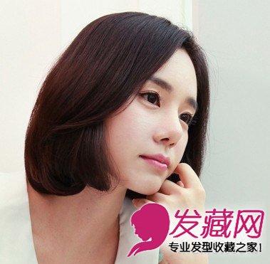 减龄中分波波头短发发型 中分短发轻松取胜 →继空气刘海之后短发