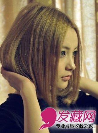 短发怎么烫好看 斜刘海的短发梨花烫发型(3)