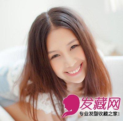 非常适合圆脸的中长发发型 适合圆脸的发型推荐(2)