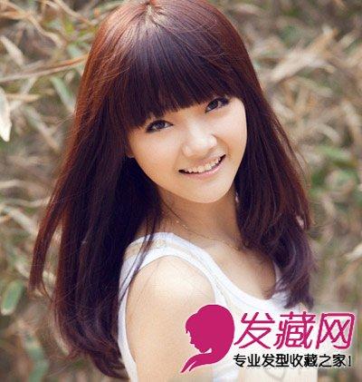 非常适合圆脸的中长发发型 适合圆脸的发型推荐(3)
