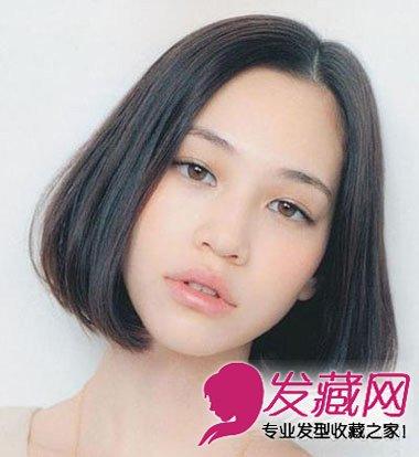 圆脸女生适合的发型 流行款中短发发型图片