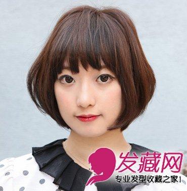 圆脸女生适合的发型 流行款中短发发型