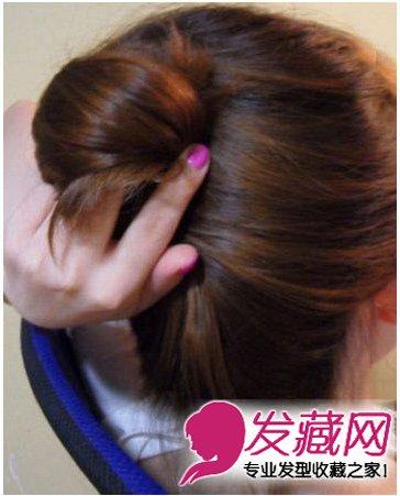 学习diy时尚动感优雅发型设计 简约盘发造型_发型设计-时尚发艺发型网图片