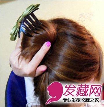 中长发/长发/卷发/直发 6步梳一款高大上的 →如何自己梳盘发 diy图片