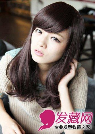 圆脸的修颜发型 中发长发皆修颜(6)图片