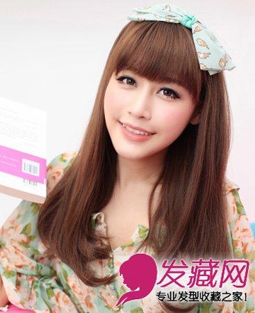 圆脸的修颜发型 中发长发皆修颜(7)