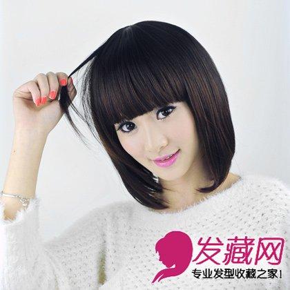 圆脸的修颜发型 中发长发皆修颜(8)图片