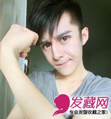 非主流范短发发型 适合小脸男生的短发 5 男士短发发型 发藏网