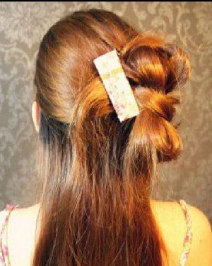 非常甜美的蝴蝶结半扎发发型 韩式半扎发教程