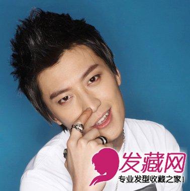 韩范的男士发型图片