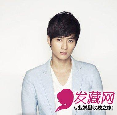 刘海款男士短发发型 最适合脸长男生发型图片