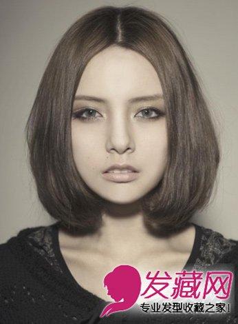 齐刘海的内扣短发发型 中短发齐刘海内扣发型 齐刘海内扣-女生齐刘