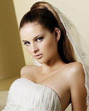 比较适合脸型比较好的美眉新娘发型图片欣赏