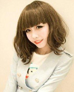 圆脸女生适合的短发发型 非常甜美可爱的女生短发