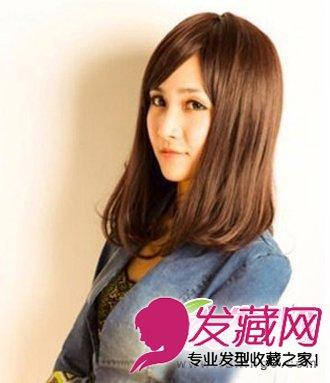 内扣梨花烫发型 最新中长发烫发发型(6)
