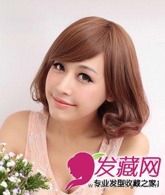 短发发型打造出梨花烫的发型设计 韩式短卷发发型(5)