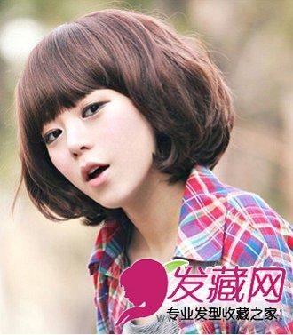 短发发型的韩式蛋卷头烫发造型,俏皮又可爱,齐颈长度的短发发型,打造
