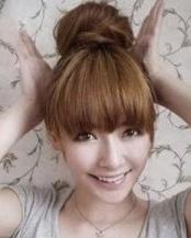 女生diy发型图解韩式瘦脸丸子头扎发