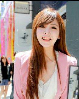 韩国最流行女生中分波浪卷发发型