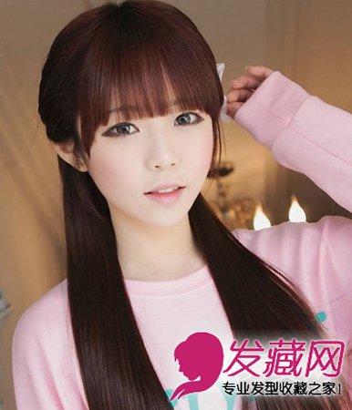 齐刘海发型最减龄显嫩 洋娃娃范的可爱长卷 →清新甜美的短发发型