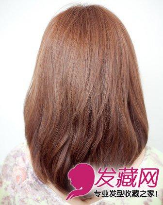 让大脸速变瓜子脸 中长发梨花烫发型(5)