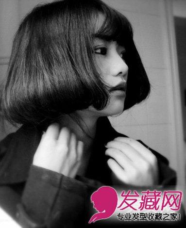 圆脸女生必看 齐刘海的长直发发型型日期
