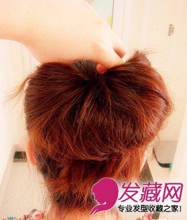 编发+花苞头发型 简单盘发教程图解 →高耸的花苞头发型 长发这样