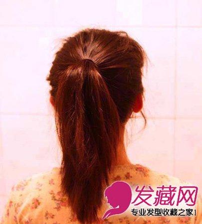 中长发怎么扎好看 可爱韩式丸子头扎发教程(2)