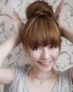 简单易学韩式丸子头扎发教程