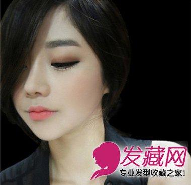 潮女范短发发型 金色的齐刘海短发发型(6)图片
