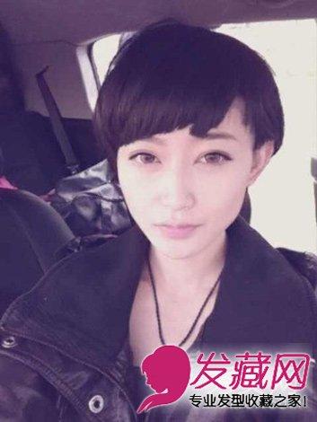 时尚清新的女生齐刘海的短发发型(8)图片