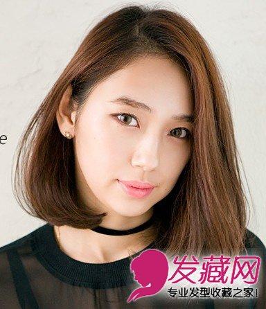 齐肩中短发发型 适合大脸和方脸图片