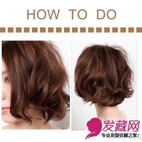 女生短发发型设计 轻松演绎帅气范儿   不同方向的中号卷发让这款