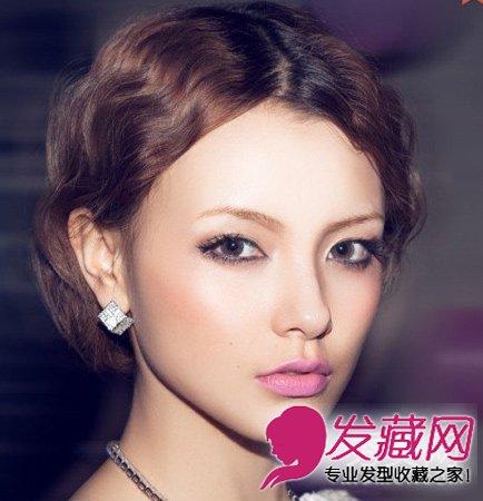 齐刘海的短发泡面头 圆脸发少都适合(6)