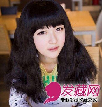 齐刘海的短发泡面头 圆脸发少都适合(8)