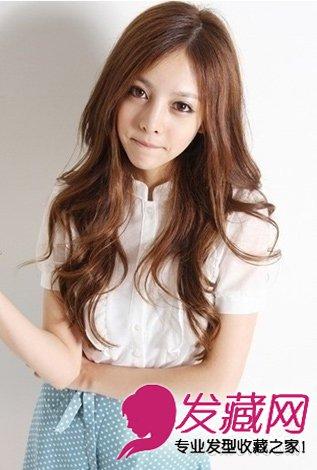 【图】齐刘海的长发蛋卷头发型