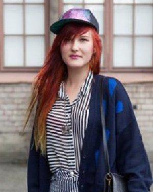 亮红色的染发发色 时尚发型玩转