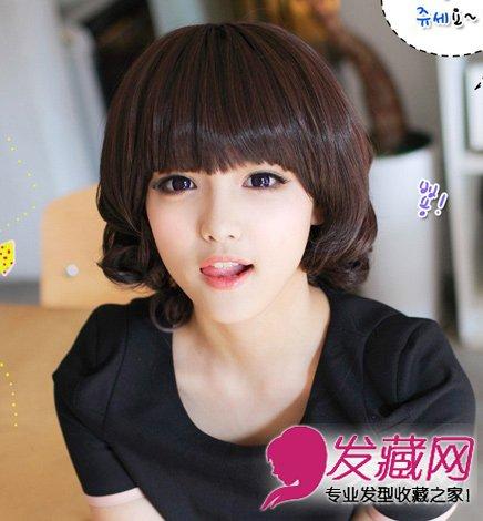导读:圆脸适合什么发型 俏皮范修颜中短发发型 齐刘海的短 卷发发型