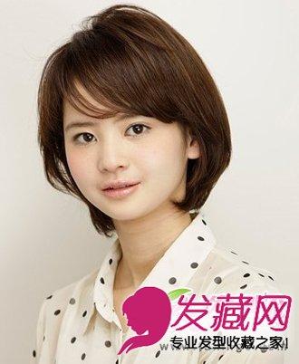 蓬松职场女生短发 可爱的齐刘海打造出碎发(3)