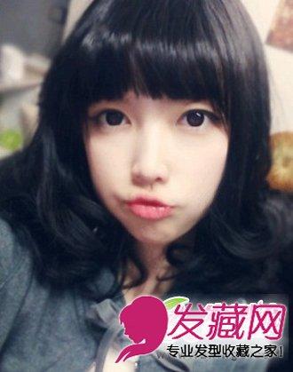 轻轻碎剪的齐刘海发型 修饰大脸好助手(3)