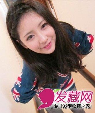 轻轻碎剪的齐刘海发型 修饰大脸好助手(4)