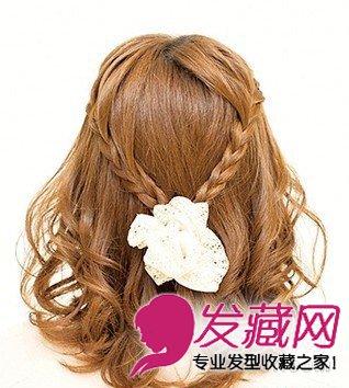 中长发怎么才能扎出好看的发型 森系麻花辫半扎发教程(3)